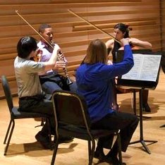 Photo of GVO members performing chamber music